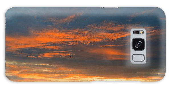 Fire In The Sky Sunset Galaxy Case
