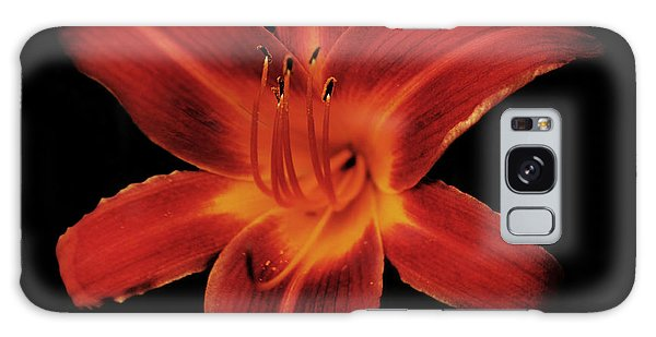Fire Lily Galaxy Case by Michael Porchik