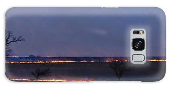 Fire Lines At Night Galaxy Case by Scott Bean