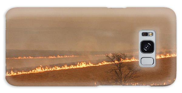 Fire Lines Galaxy Case by Scott Bean