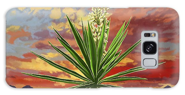 Fire Sky Desert Blooming Yucca Galaxy Case by Tim Gilliland