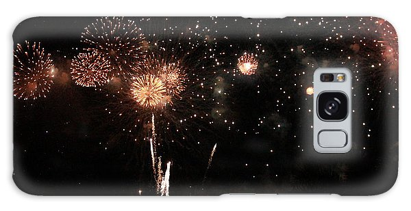 Galaxy Case featuring the photograph Fire Work Display by Debbie Cundy