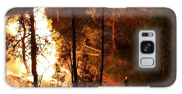 Firefighters Burn Out On The White Draw Fire Galaxy Case by Bill Gabbert