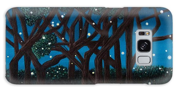 Fireflies Galaxy Case by Cheryl Bailey
