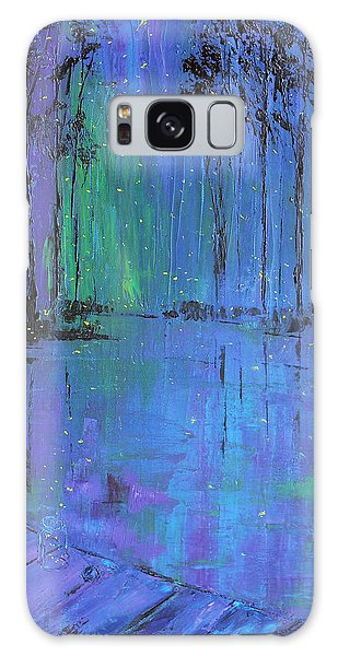 Fireflies Galaxy Case by Patricia Olson