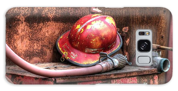 Fireman's Helmet And Hose Galaxy Case by Jimmy Ostgard