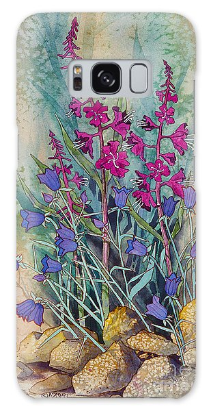 Fireweed And Bluebells Galaxy Case