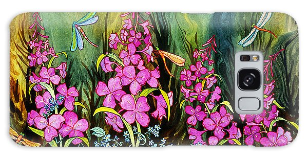 Fireweed And Dragonflies Galaxy Case