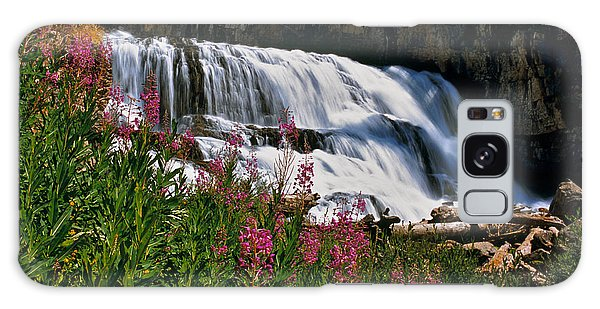 Fireweed Blooms Along The Banks Of Granite Creek Wyoming Galaxy Case