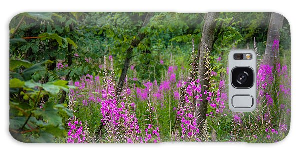 Fireweed In The Irish Countryside Galaxy Case