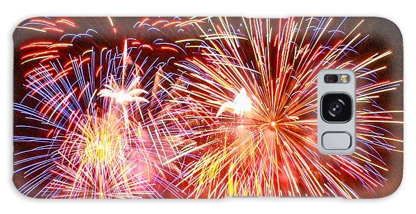 Fireworks 4th Of July Galaxy Case by Robert Hebert