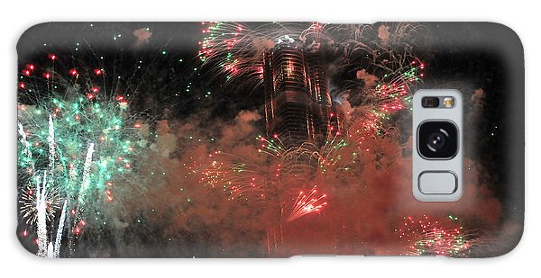 Burj Khalifa Fireworks 6 Galaxy Case
