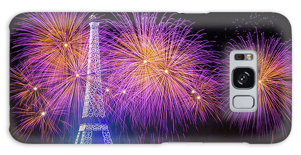 Fireworks Galaxy Case - Fireworks At The Eiffel Tower For The 14 July Celebration by Laurent Lothare Dambreville