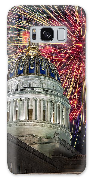 Fireworks At Wv Capitol Galaxy Case