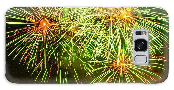 Fireworks Green And Yellow Galaxy Case by Robert Hebert