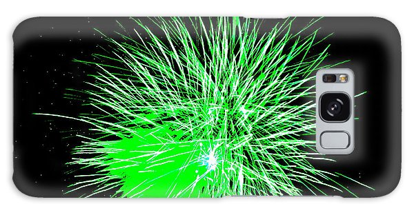 Fireworks In Green Galaxy Case by Michael Porchik