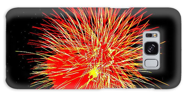 Fireworks In Red And Yellow Galaxy Case by Michael Porchik
