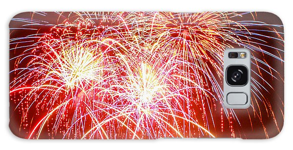 Fireworks In Red White And Blue Galaxy Case