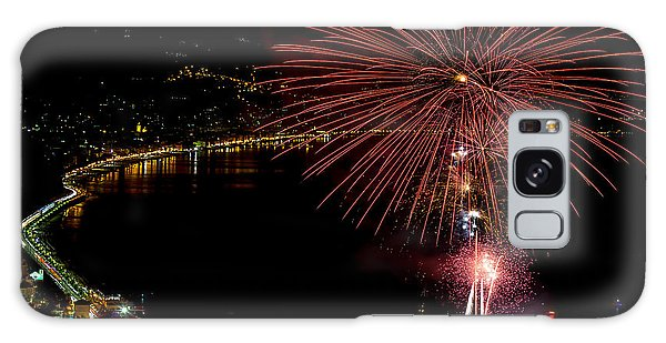 Galaxy Case featuring the photograph Fireworks Laigueglia 2013 3184 - Ph Enrico Pelos by Enrico Pelos