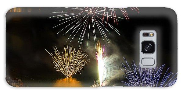 Galaxy Case featuring the photograph Fireworks Laigueglia 2013 3192q - Ph Enrico Pelos by Enrico Pelos