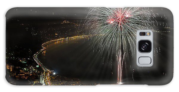 Galaxy Case featuring the photograph Fireworks Laigueglia 2013 3217d - Ph Enrico Pelos by Enrico Pelos