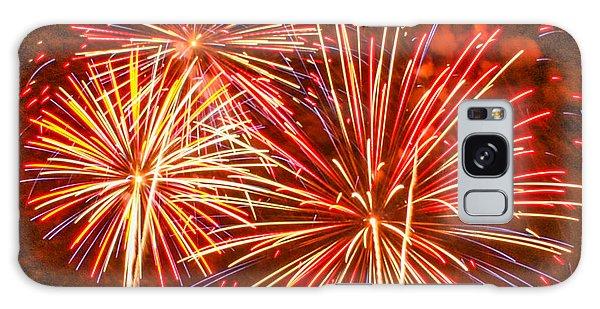 Fireworks Orange And Yellow Galaxy Case by Robert Hebert
