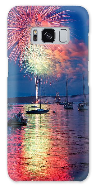 Fireworks Over Boothbay Harbor Galaxy Case