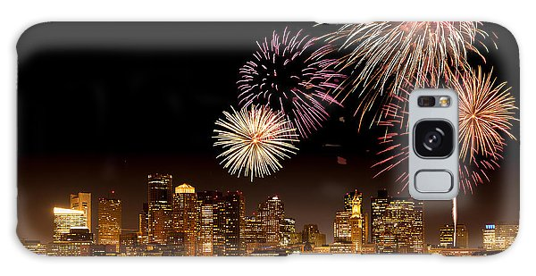 Fireworks Over Boston Harbor Galaxy Case by Susan Cole Kelly