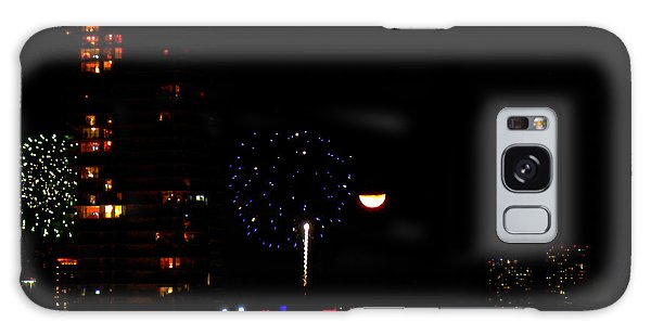 Fireworks Over Miami Moon II Galaxy Case by J Anthony