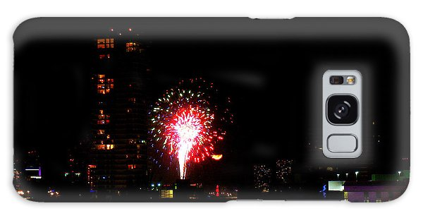 Fireworks Over Miami Moon Galaxy Case by J Anthony