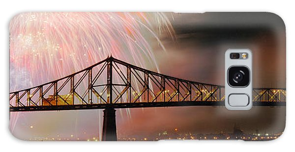 Quebec City Galaxy Case - Fireworks Over The Jacques Cartier by Panoramic Images