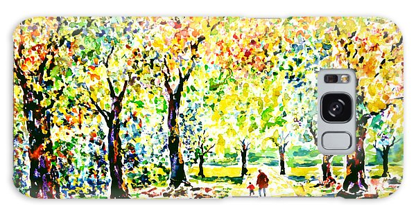 First Autumnal Walk On His Own Feet Galaxy Case