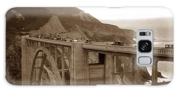 First Cars Across Bixby Creek  Bridge Big Sur California  Nov. 1932 Galaxy Case
