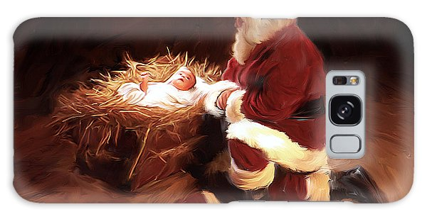 Santa Claus Galaxy Case - First Christmas by Mark Spears