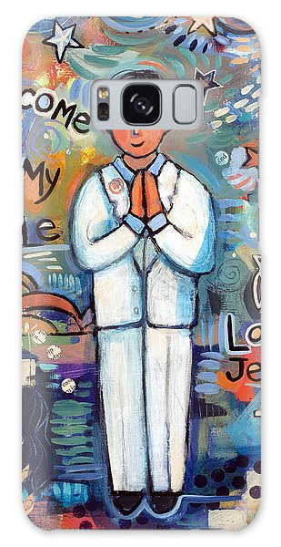 Communion Galaxy Case - First Communion Boy by Jen Norton