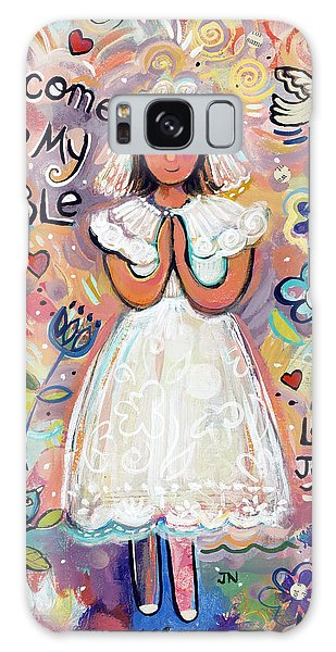 Communion Galaxy Case - First Communion Girl by Jen Norton