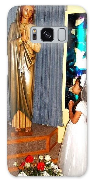 First Communion---greeting Cards Galaxy Case by Saribelle Rodriguez