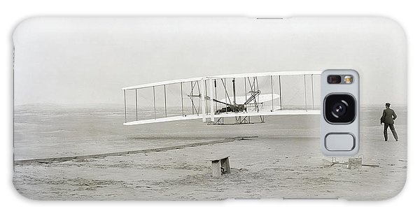 Airplanes Galaxy Case - First Flight Captured On Glass Negative - 1903 by Daniel Hagerman