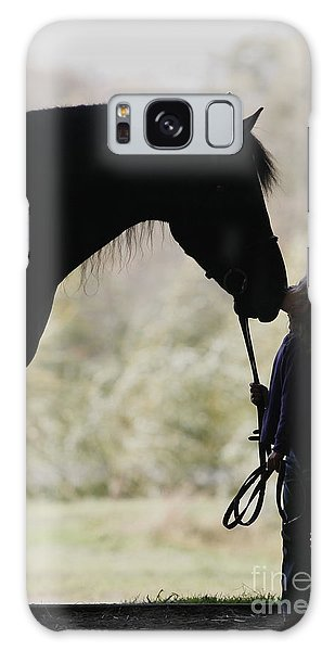 First Kiss Galaxy Case by Carol Lynn Coronios
