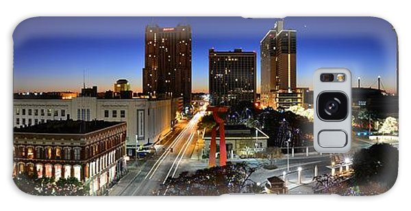 First Light On San Antonio Skyline - Texas Galaxy Case