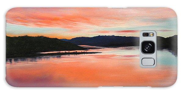 Arkansas River Sunrise Galaxy Case