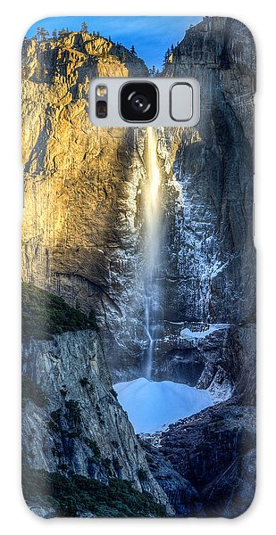 First Light On Yosemite Falls Galaxy Case by Mike Lee
