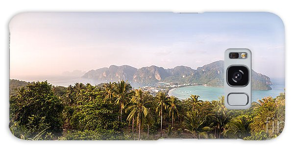 Phi Phi Island Galaxy Case - First Light Over Tropical Island by Matteo Colombo