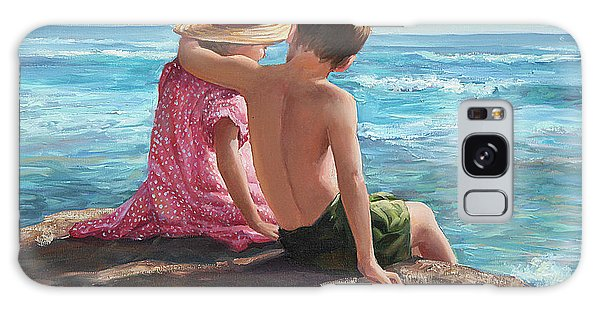 Brothers Galaxy Case - First Love By The Seashore by Laurie Snow Hein