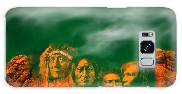 First Nations Chiefs In Mount Rushmore Galaxy Case