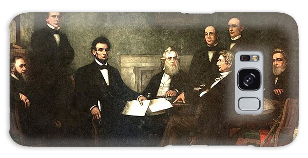 Us Civil War Galaxy Case - First Reading Of The Emancipation Proclamation Of President Lincoln by Georgia Fowler