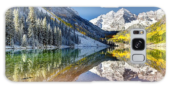 First Snow Maroon Bells Galaxy Case