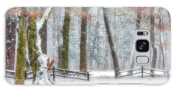 First Snow-winter Wonderland Galaxy Case