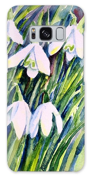 First Snowdrops Of Winter  Galaxy Case by Trudi Doyle