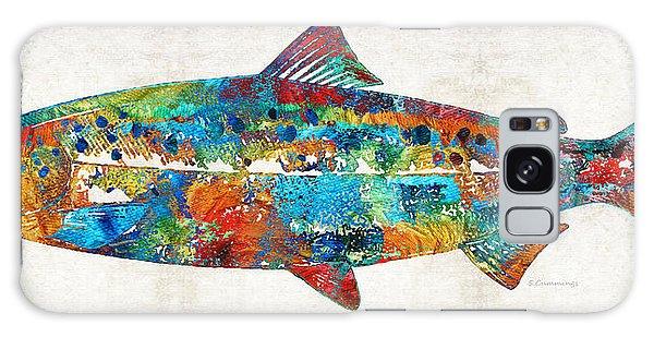 Fish Art Print - Colorful Salmon - By Sharon Cummings Galaxy Case